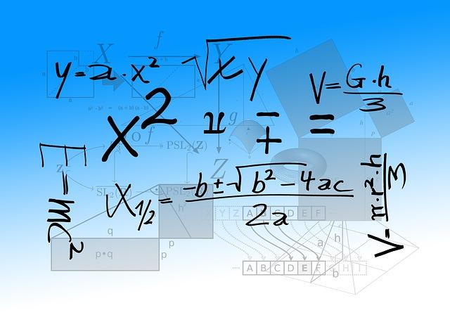 Random math equations.